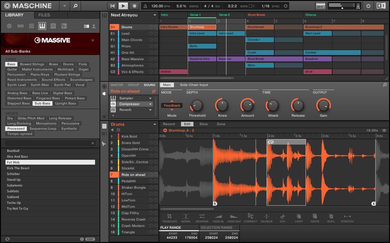 Maschine Software Interface